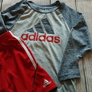 Adidas Boys 3T Soccer Outfit with Long Sleeve Top